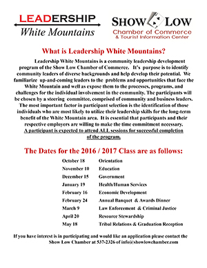 Leadership White Mountains flier (image)