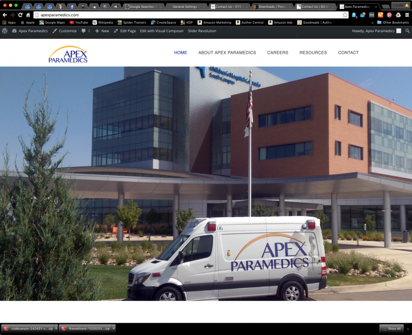 Spider Trainers gallery: Apex Paramedics website (image)
