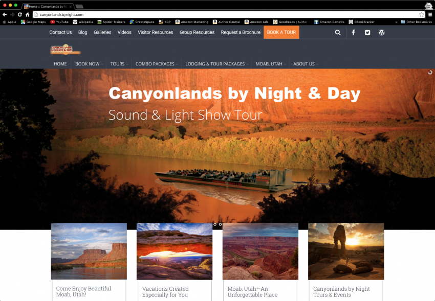 Spider Trainers gallery: Canyonlands by Night website (image)