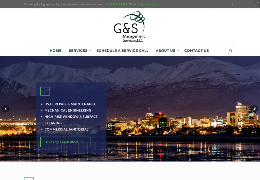 Spider Trainers gallery: G&S Management Services website (image)