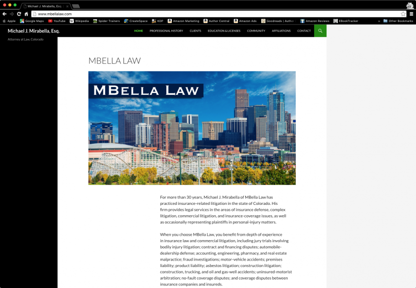 Spider Trainers gallery: MBella Law website (image)