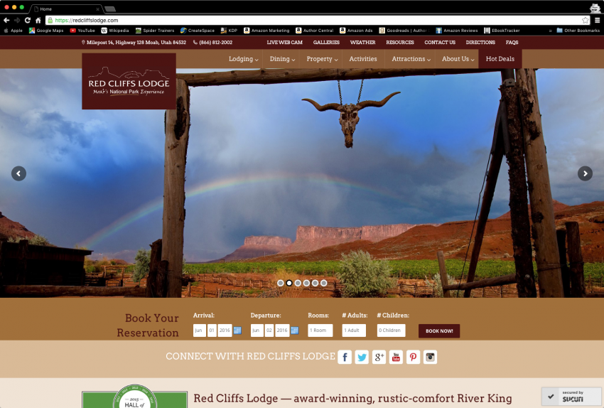 Spider Trainers gallery: Red Cliffs Lodge website (image)