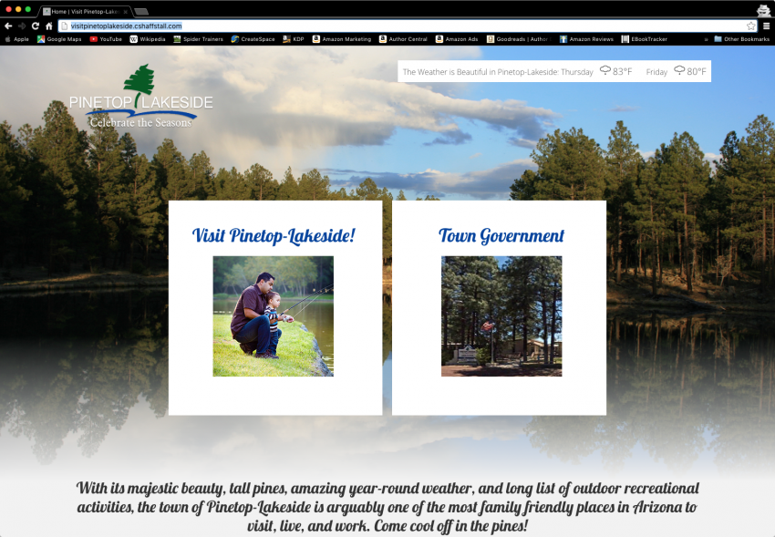 Spider Trainers gallery: Tour Pinetop-Lakeside website (image)