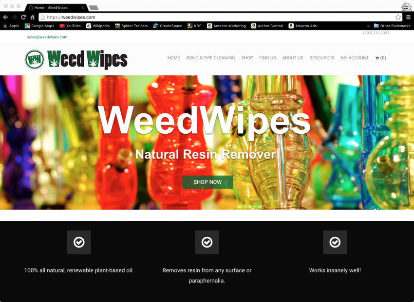 Spider Trainers gallery: WeedWipes website (image)