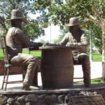 Card Players statue in Show Low (image)