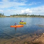 Kayaking at Fools Hollow Lake in Show Low, AZ (image)