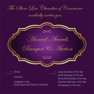 Show Low Chamber of Commerce Annual Awards flier 2017 (image)
