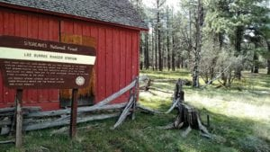 Los Burros ranger station in the White Mountains